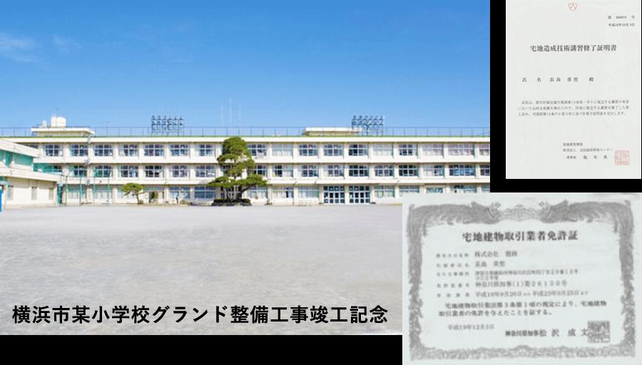 横浜市某小学校グランド整備工事竣工記念
